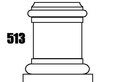 513 natural stone column Base