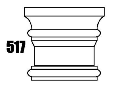 517 natural stone column cap