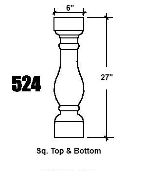 524 Baluster design
