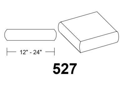 527 Bull nose square stone column caps