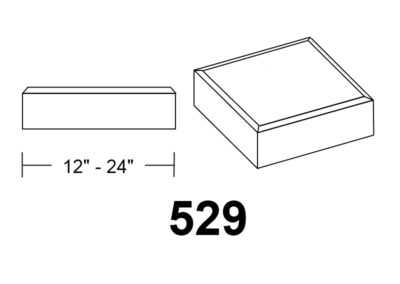 529 Chamfer Edge square stone column caps