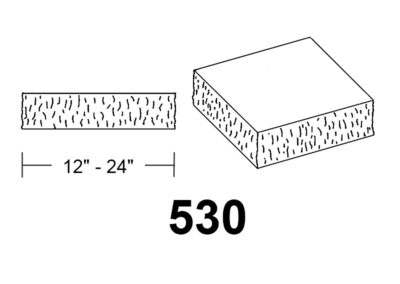 530 Chisel Face square stone column cap