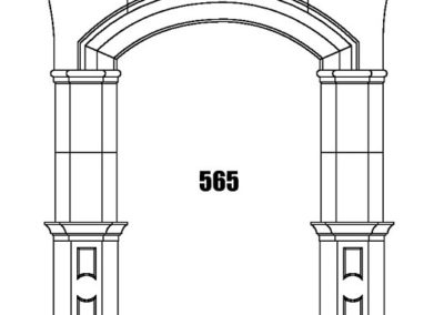 565 chiseled hand carved stone entry