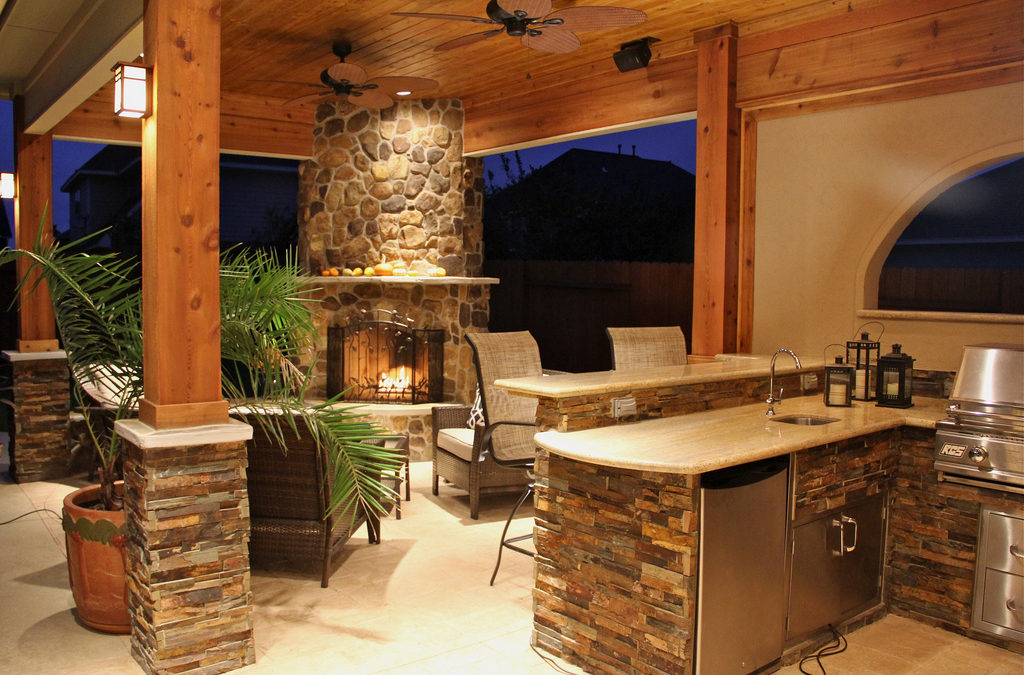 Rocking Outdoor Living Space