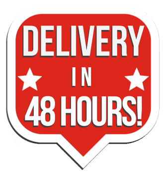 Deliver in 48 hours sign