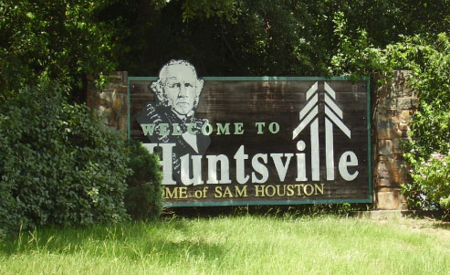 Huntsville welcome sign